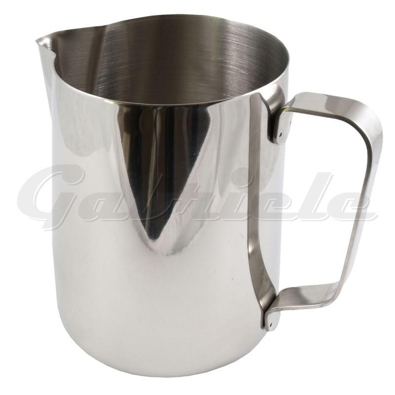 stainless steel milk jug with straight sides 1l. Black Bedroom Furniture Sets. Home Design Ideas