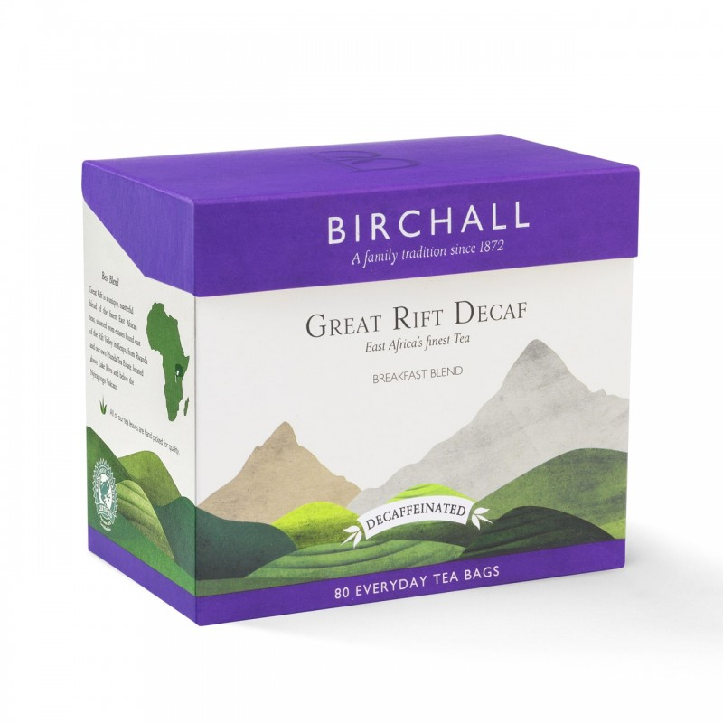 Birchall Great Rift English Breakfast Decaffeinated Tea (80 Every Day Bags)